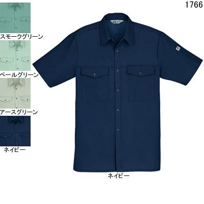 作業着 作業服 自重堂 1766 製品制電ストレッチ半袖シャツ 4L・ネイビー011