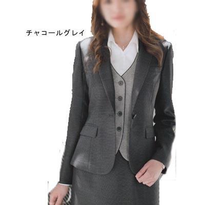 事務服・制服・オフィスウェア ユニレディ U2132 ジャケット 19号 チャコールグレー19