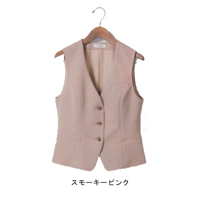 事務服・制服・オフィスウェア ユニレディ U5140 ベスト 13号 ピンク13