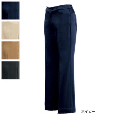 ジーベック 12202 レディスストレッチパンツ サテンストレッチ 綿65%・ポリエステル35% 伸縮素材