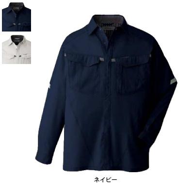 コーコス A-428 長袖シャツ サマーストレッチオックス ポリエステル85%・綿15% ストレッチ JIS帯電防止規格合格