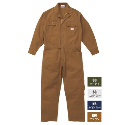 作業服 Dickies ディッキーズ 702 年間物ツヅキ服 つなぎ 4L~5L