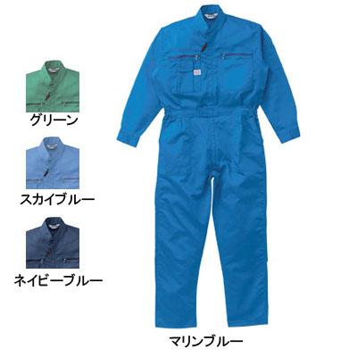山田辰 AUTO-BI 1-1250 つなぎ服 ポリエステル55%・綿45% 二層ストレッチ素材使用 帯電防止織物使用