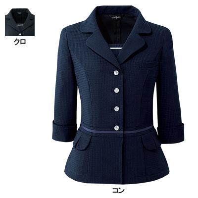 オフィスウェア J6170 デザインジャケット 17号~19号 事務服/オフィスウェア ピエ J6170 デザインジャケット 17号~19号