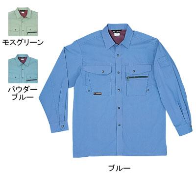 桑和 345 長袖シャツ ストレッチレベル1(伸縮率15%未満) 優れた吸汗性 ソフト加工
