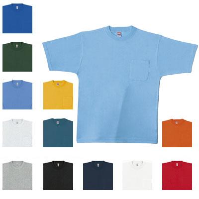 桑和 0001 半袖Tシャツ(胸ポケット付き) 綿100%(4.2oz 140g/m2 32S/1)[杢グレーのみ綿92%・ポリエステル8%][オートミールのみ綿97%・ポリエステル3%] ストレッチ ソフト加工 優れた吸汗性