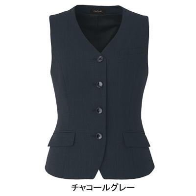 事務服・制服・オフィスウェア ピエ V3510 ベスト 5号~15号