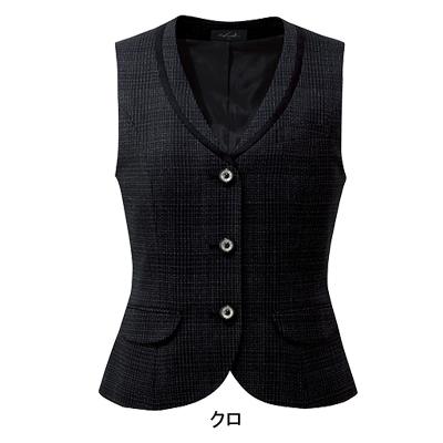 事務服・制服・オフィスウェア ピエ V8110 ベスト(3ツボタン) 17号~19号