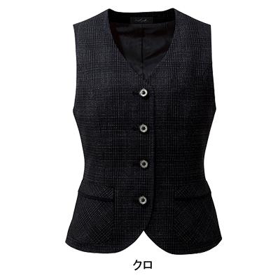 事務服・制服・オフィスウェア ピエ V8111 ベスト(4ツボタン) 5号~15号