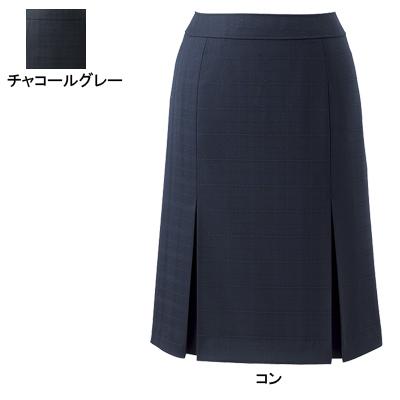 事務服・制服・オフィスウェア ピエ S8121 プリーツスカート 17号~19号