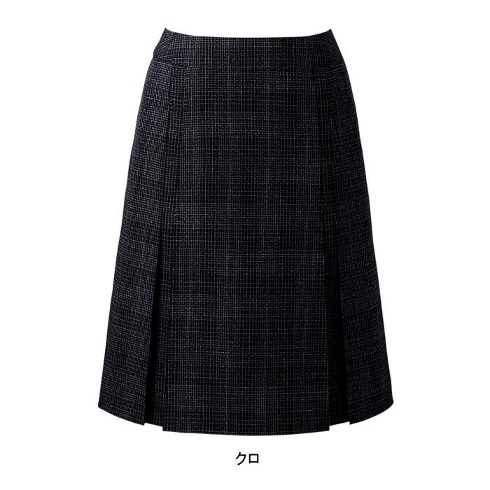 事務服・制服・オフィスウェア ピエ S8111 デザインプリーツスカート(53cm丈) 23号