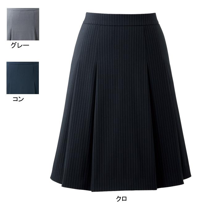 事務服・制服・オフィスウェア ピエ HCS3602 キテミテ体感ソフトプリーツスカート(54cm丈) 17号~19号