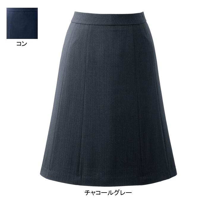 事務服・制服・オフィスウェア ピエ HCS3611 キテミテ体感フレアースカート(55cm丈) 17号~19号