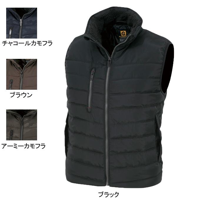コーコス G-1099 防寒ベスト (表)メモリークロス、(裏)タフタ、(中綿)軽量特殊綿 (表)ポリエステル100%、(裏)ポリエステル100%、(中綿)ポリエステル100%