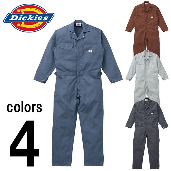 つなぎ ツナギ服 おしゃれ 3L~5L Dickies(ディッキーズ) 秋冬作業服 年間物ストライプつなぎ服 703 刺繍 ネーム刺繍