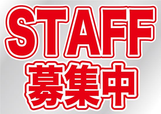 安心の実績 高価 買取 強化中 シール STAFF募集中 低価格 ウィンドウシール 片面 No.6870