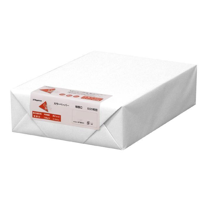 長門屋商店 カラーペーパー A3 特厚口 白 500枚 ナ-1451オフィス 文房具 画用紙