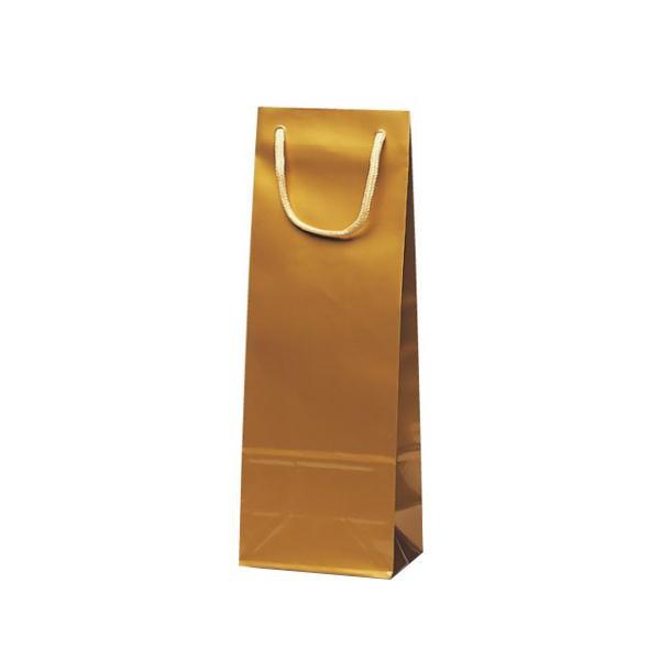 スリムバッグ 手提袋 130×90×360mm 100枚 ゴールド 1525【送料無料】