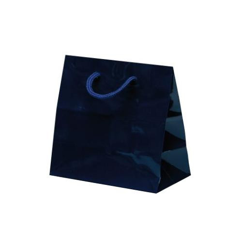 リトルバッグ 手提袋 165×90×160mm 100枚 ネイビー 1523紙手提げ袋 お店 ペーパーバッグ
