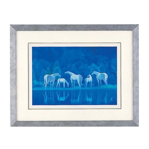 高岡銅器 彫金パネル 北光修作 白馬の森 148-04