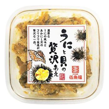 コリコリ食感と濃厚な味わいで日本酒がすすむおつまみです 伍魚福 百貨店 おつまみ S うにと貝の贅沢あえ 限定品 230240 80g×10入り