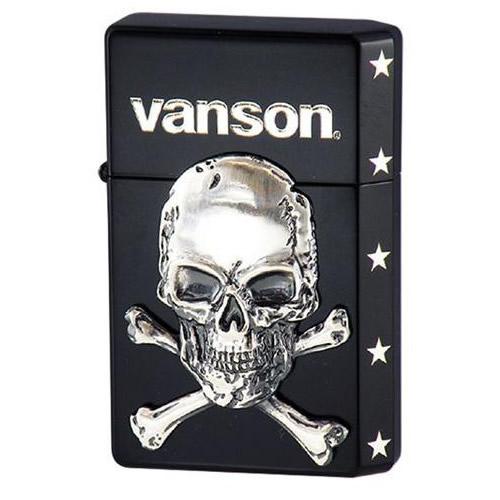 オイルライター vanson×GEAR TOP V-GT-04 クロスボーンスカル ブラック【送料無料】