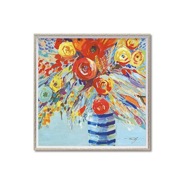 ユーパワー OIL PAINT ART オイル ペイント アート 「ペール フラワーズ」 Mサイズ OP-18011【送料無料】