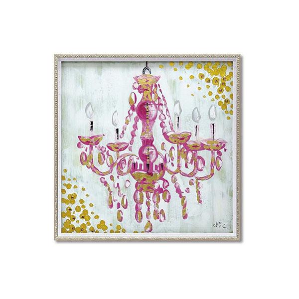 ユーパワー OIL PAINT ART オイル ペイント アート 「ラブ シャンデリア」 Mサイズ OP-18074【送料無料】