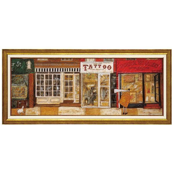 ユーパワー アートフレーム サム トフト「あなたの住む街角で」 ST-15014美術 インテリア 絵