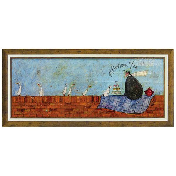 ユーパワー アートフレーム サム トフト「アフタヌーン ティー」 ST-15008イギリス作家 壁掛け 飾り