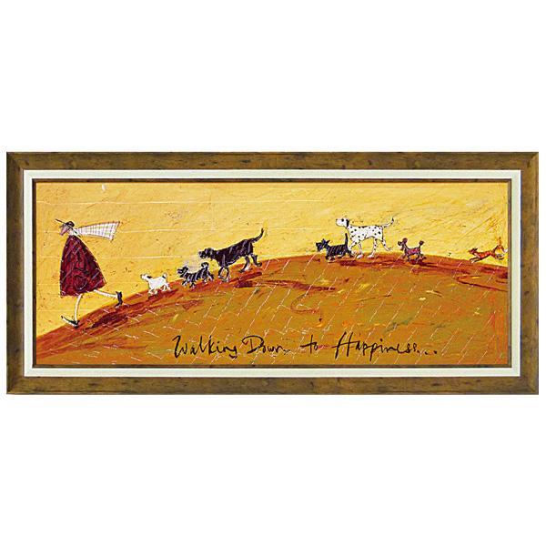 ユーパワー アートフレーム サム トフト「幸せへ向かって」 ST-15005インテリア 美術 飾り