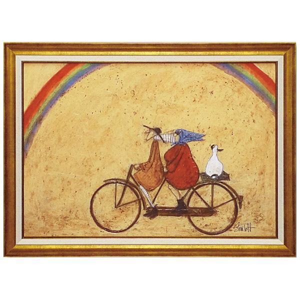 ユーパワー アートフレーム サム トフト「虹に向かって」 ST-16004イギリス作家 絵 壁掛け
