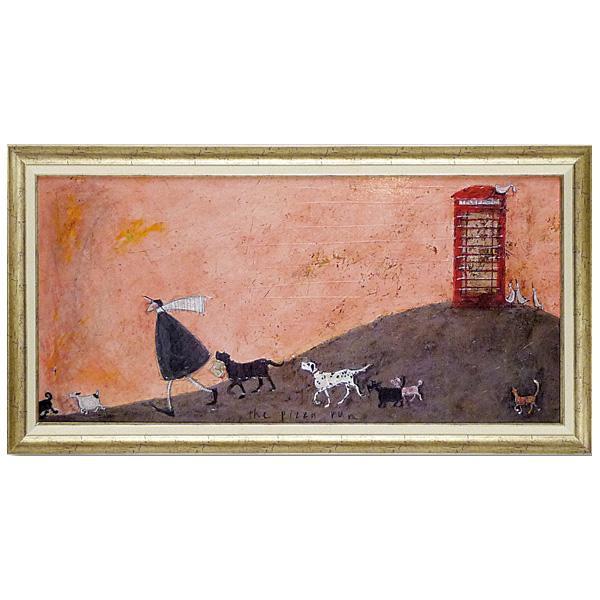 ユーパワー アートフレーム サム トフト「ピザと走れ」 ST-17001飾り 美術 イギリス作家