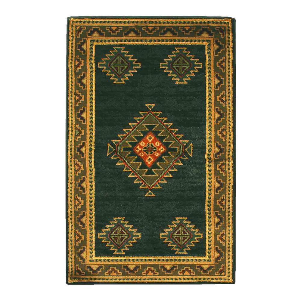 ユナイテッド・ウィーバーズ・オブ・アメリカ ララミー ダークグリーン ラグ ハースラグ 127×79cm UW52842H絨毯 敷物 マット