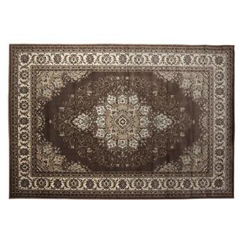 <title>重厚感溢れるデザインのウィルトン織りカーペット 通販 ウクライナ製 ウィルトン織り カーペット 約240×330cm ブラウン 2351889</title>