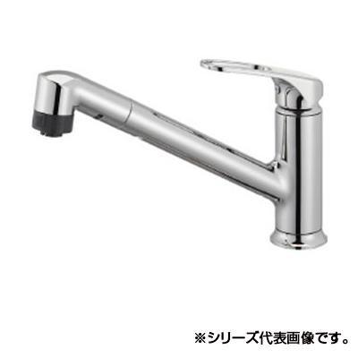 三栄 SANEI シングルワンホールスプレー混合栓(省施工ナット付) K87101JV-U-13