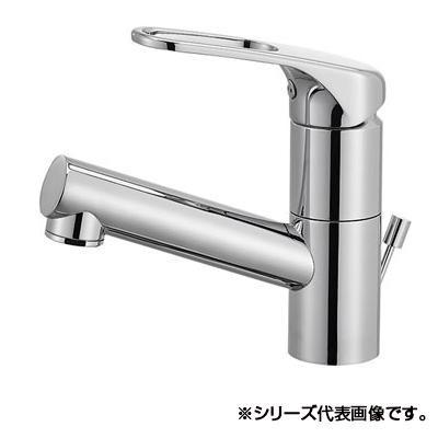 三栄 SANEI シングルワンホール洗面混合栓(省施工ナット付) K475PJV-U-13