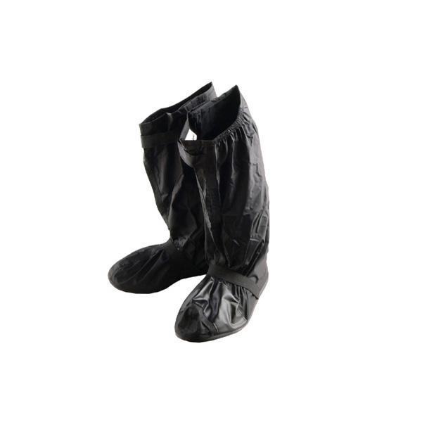 交換無料 別倉庫からの配送 膝下まで覆えるブーツカバー リード工業 Landspout ブーツカバー L RW-053A ブラック ソール付