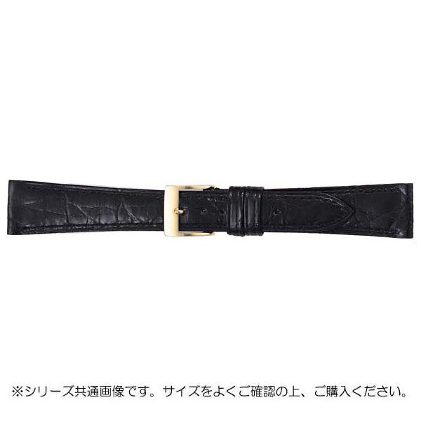BAMBI バンビ 時計バンド グレーシャス ワニ革 黒(美錠:金) BWA112AR【送料無料】