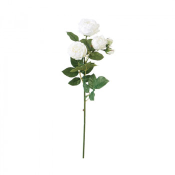 アーティフィシャルフラワー シャーロットローズ ホワイト 6本セット P4813 アレンジメント