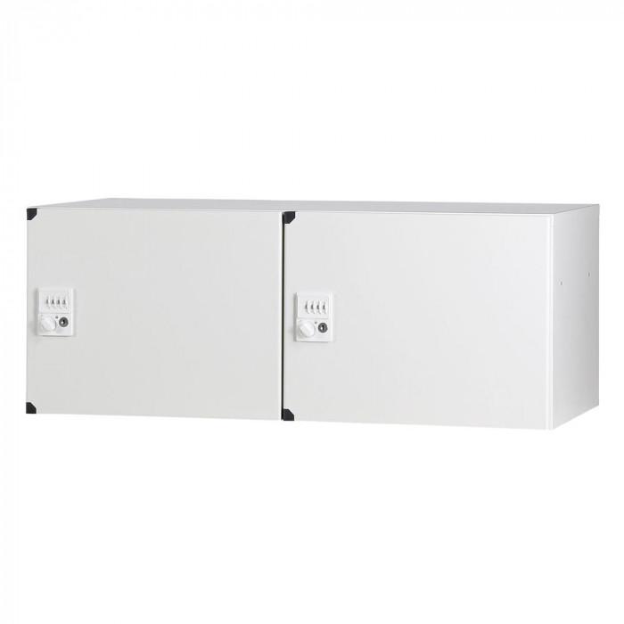 豊國工業 パーソナルロッカー(2列1段)H350 ダイヤル錠 ホワイト HOS-PD3502C-W BN-90色(ホワイト)