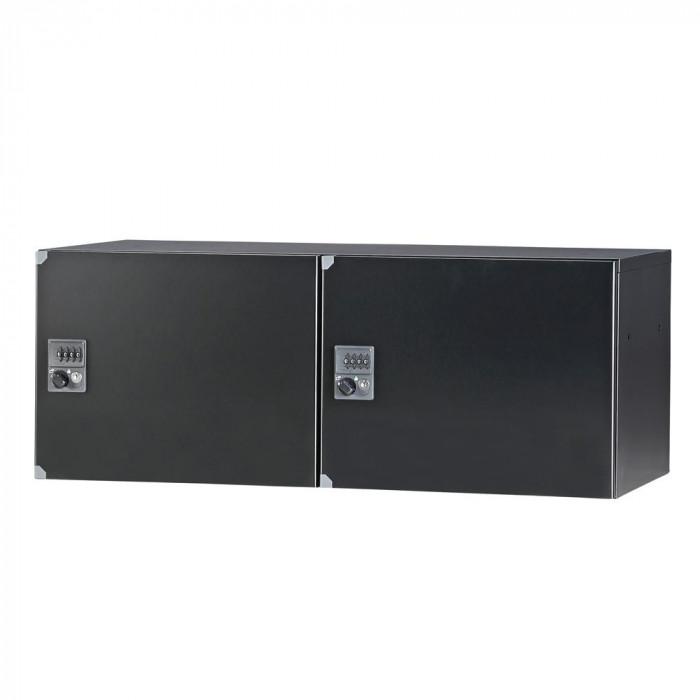 豊國工業 パーソナルロッカー(2列1段)H350 ダイヤル錠 ブラック HOS-PD3502C-B CN-10色(ブラック)