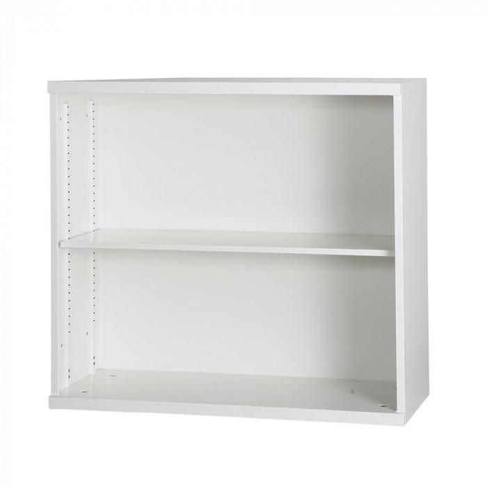 豊國工業 コンビネーション収納庫オープン1列 棚板1枚付 ホワイト NHS-K11-W サテンホワイト