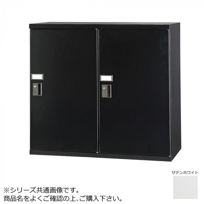 豊國工業 コンビネーション収納庫小物ロッカー2列 ダイヤル錠 ホワイト NHS-SD21-W サテンホワイト