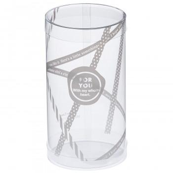 円筒ケースを重ねて陳列すれば 売り場に賑やかさもプラス 梱包資材 ラッピング用品 クリアケース 100個セット 新登場 PVC円筒デザイン 246512 保証 リュバン MP65-12