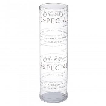 円筒ケースを重ねて陳列すれば 売り場に賑やかさもプラス 梱包資材 ラッピング用品 クリアケース MP6-20 本物 誕生日プレゼント 240620 100個セット PVC円筒デザイン ブラン