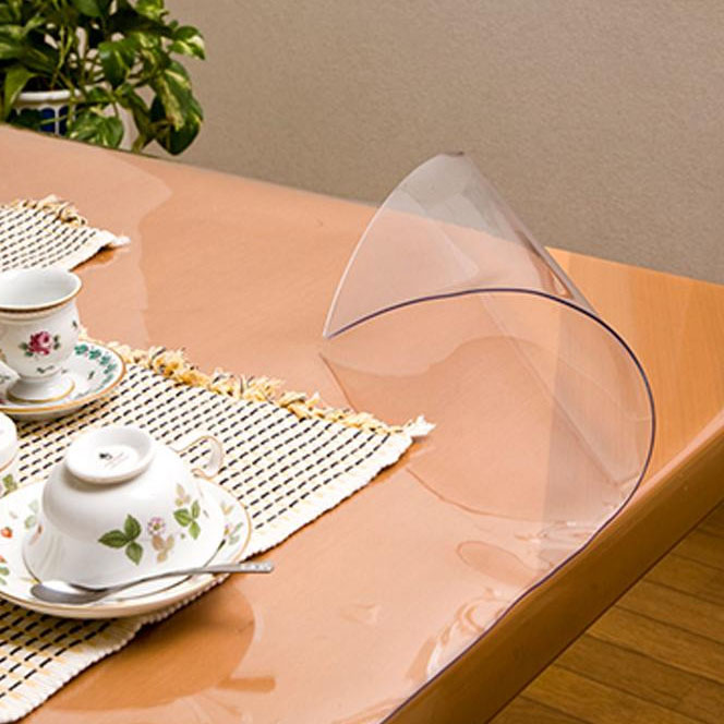 日本製 透明抗菌テーブルマット(2mm厚) 表面抗菌加工・裏面非転写加工 約900×1350長 TK2-1359【送料無料】