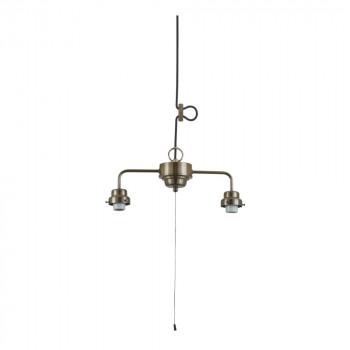 2灯用ビス止めCP型吊具 (真鍮ブロンズ鍍金) GLF-0292BR