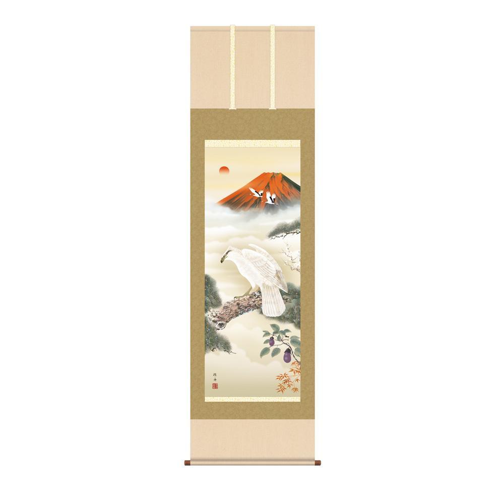 掛軸 長江桂舟「開運初夢来迎図」 KZ2D5-080 54.5×190cm