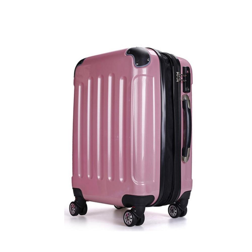 157センチ以内 スーツケース ダブルファスナー8輪ケース M6021 M-中型 ピンク・35【送料無料】